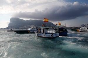 A Gibraltar police boat