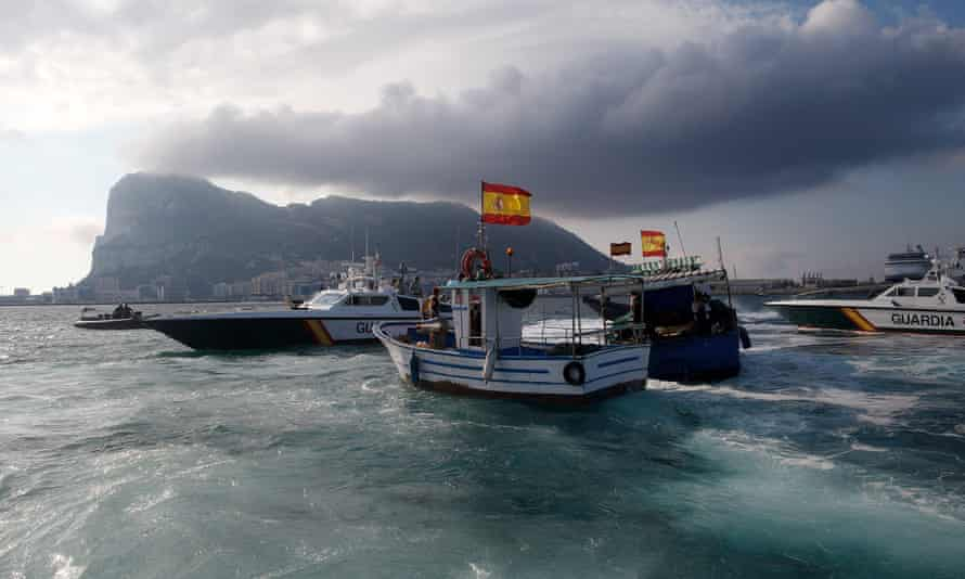 Spanish Fishermen Stage Protest In Disputed Waters Near Artificial Reef in 2013. Gibraltar's chief minister has said he is 'appalled' after Spanish police made several incursions into British waters.