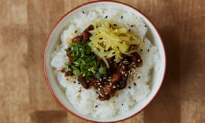 'The very thing for cheap lunches when winter comes': Taiwanese pork rice.