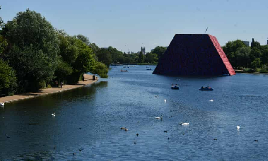 Totemic … the London Mastaba is 20m high, 30m wide and 40m long.