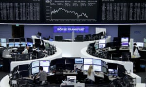 German stock exchange screens