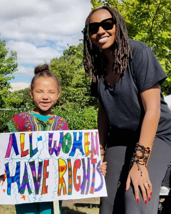 Tometi at the March for Black Women in Washington DC, 2017.