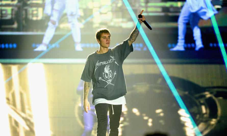 'There is virtually no point in him singing, for he is drowned out' – Justin Bieber on the Purpose word tour.