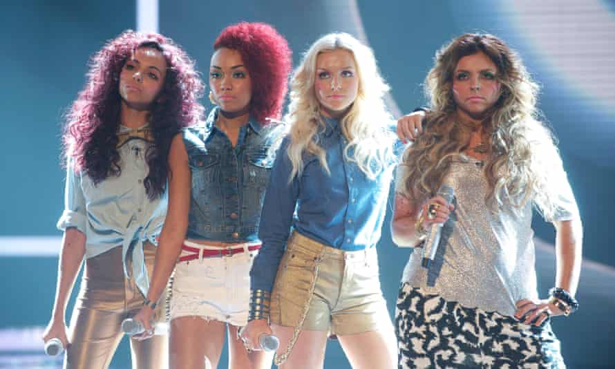 Jade Thirlwall, Leigh-Anne Pinnock, Perrie Edwards and Jesy Nelson on The X Factor in 2011.