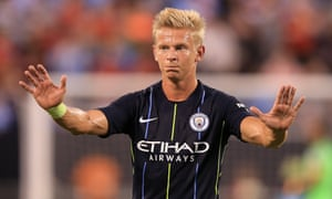 Oleksandr Zinchenko's preferred position is as an attacking midfielder but he regularly filled in at left-back for Manchester City last season.