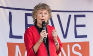 Kate Hoey addresses a rally of pro-Brexit campaigners in London.