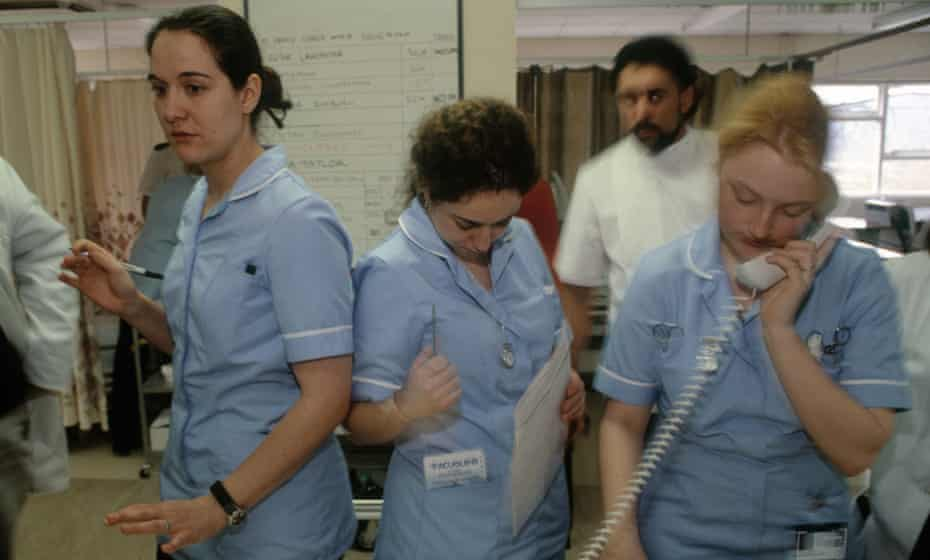Spanish Nurses take care of patients at an NHS hospital in Blackburn