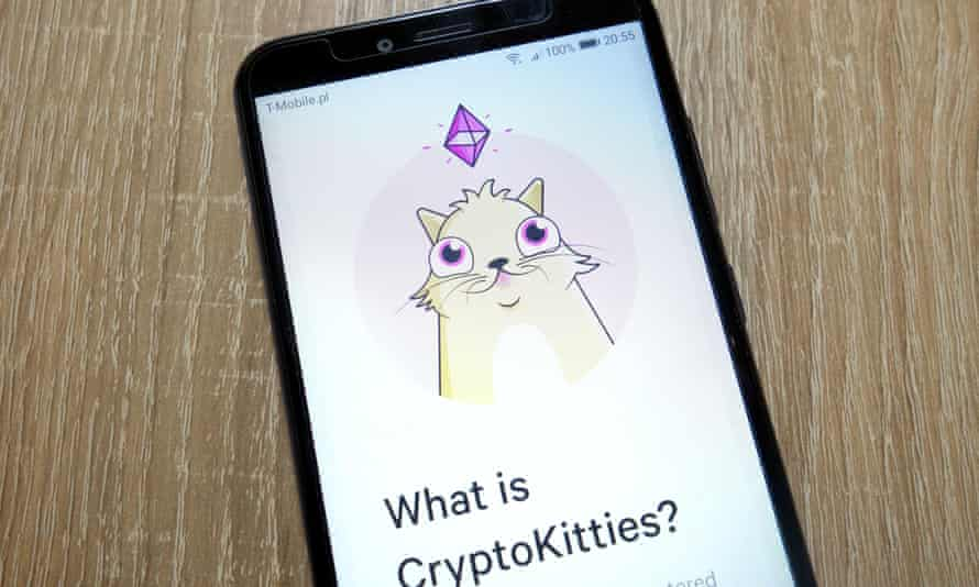 CryptoKitties, an earlier NFT craze.