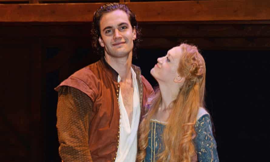 Shakespeare in Love stars Tom Bateman and Lucy Briggs-Owen in 2014.