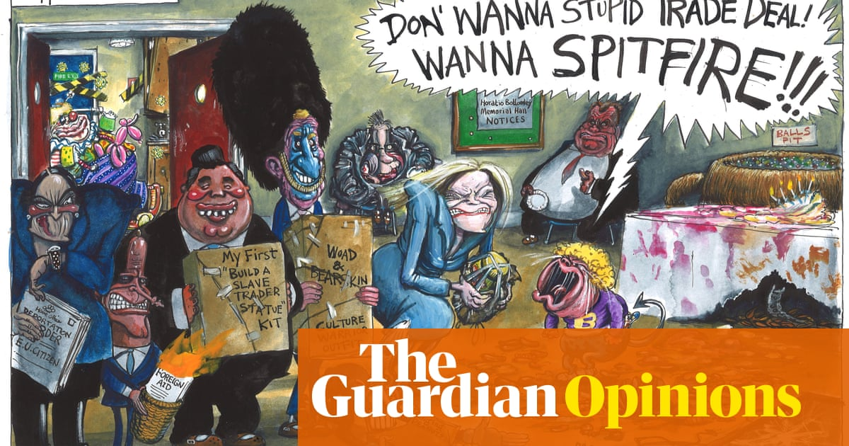 Martin Rowson the 5th anniversary of the Brexit – cartoon