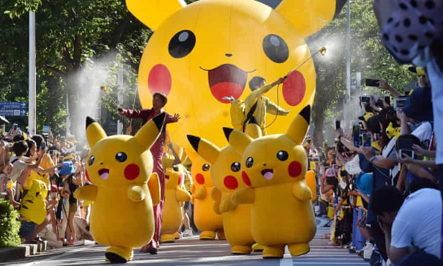 The Pikachu parade in Yokohama. Yes, this is real. No, you are not dreaming.