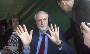 Jeremy Corbyn addresses the media after David Cameron's resignation.