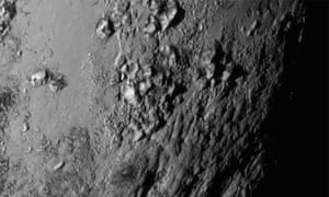 A new close-up images of a region near Pluto's equator reveals a surprise: a range of youthful mountains.