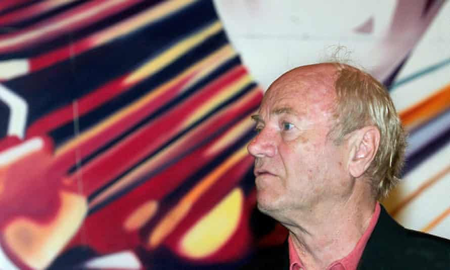 James Rosenquist pictured during a retrospective exhibition at the Guggenheim Museum, Bilbao, in 2004.