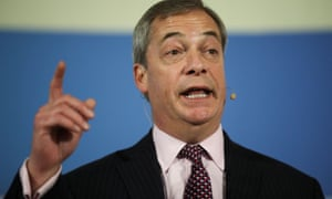 Leader of the Brexit party, Nigel Farage