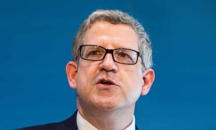 Andrew Parker speaks during a security conference in Berlin.