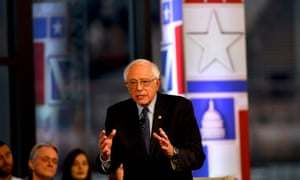 Democratic presidential candidate Bernie Sanders participates in a FOX News Town Hall in Bethlehem, Pennsylvania.