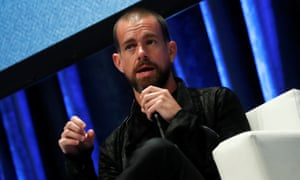 Jack Dorsey, the CEO and co-founder of Twitter, speaks at the Consensus 2018 conference.