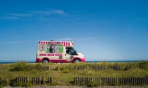 An ice-cream van