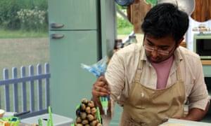 Great British Bake Off 2018 Final Episode 10, Showstopper Bake; Rahul baking..