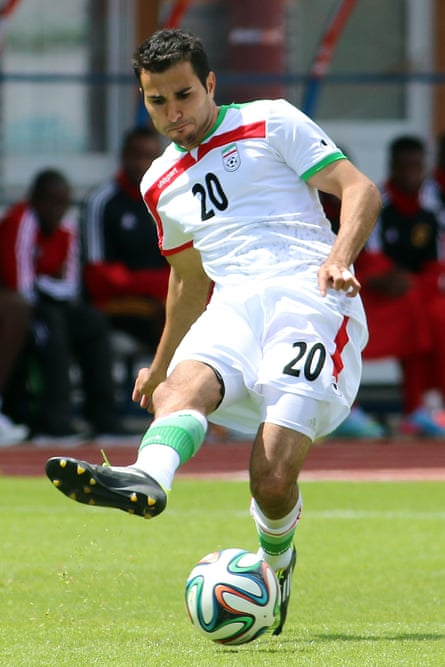 Steven Beitashour in a game between Iran and Angola in Austria.
