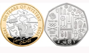 Agatha Christie and Team GB coins for 2020