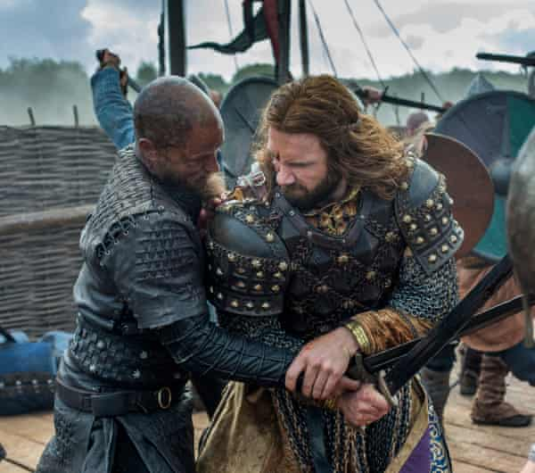 Nary an episode goes by without swords-a-swinging … Vikings.