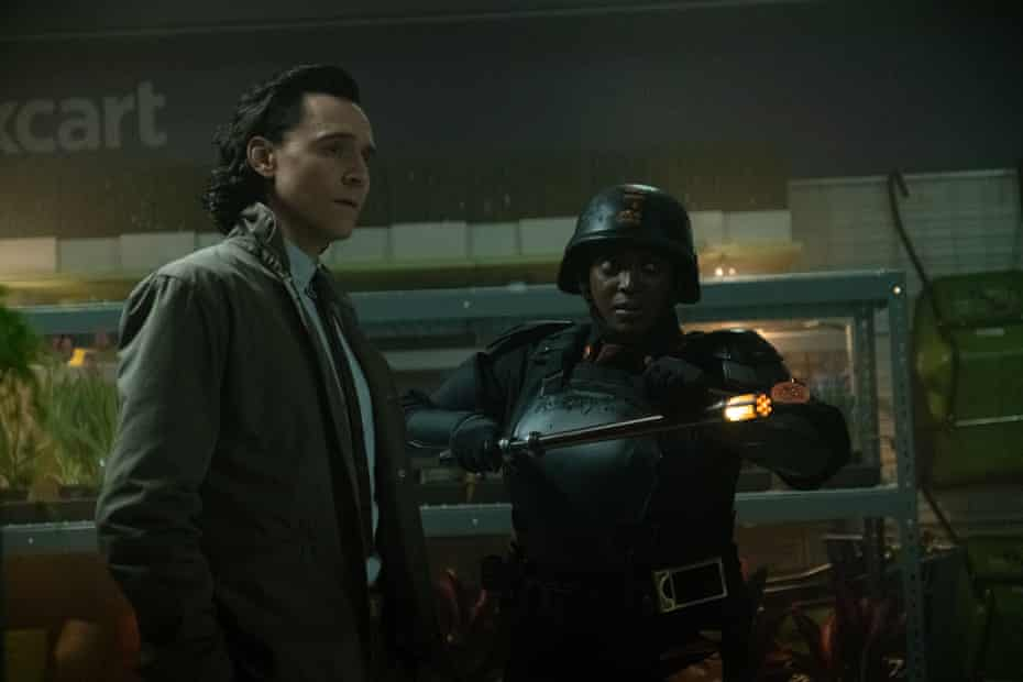 Tom Hiddleston and Wunmi Mosaku in Disney+ series Loki.