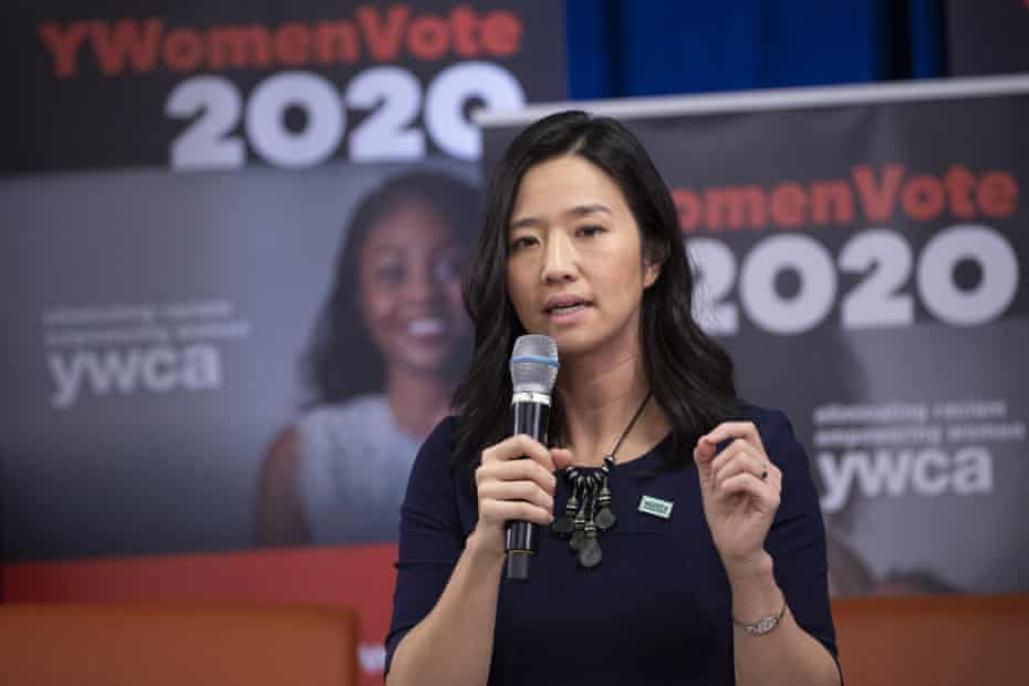 Michelle Wu, 36, a Harvard Taiwanese-American who became the city's first Asian female councillor in 2013, and first woman of color council president in 2016.