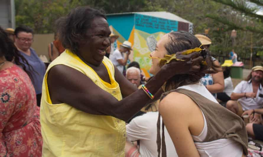 Traditional women healers of the north-east Arnhem Land rub massage oil created from special bush leaves.