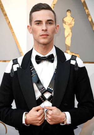 Ice skater Adam Rippon at the Oscars