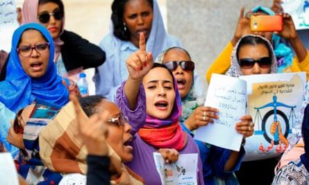 Women in Khartoum, Sudan, campaign for reform on International Women's Day in March 2020