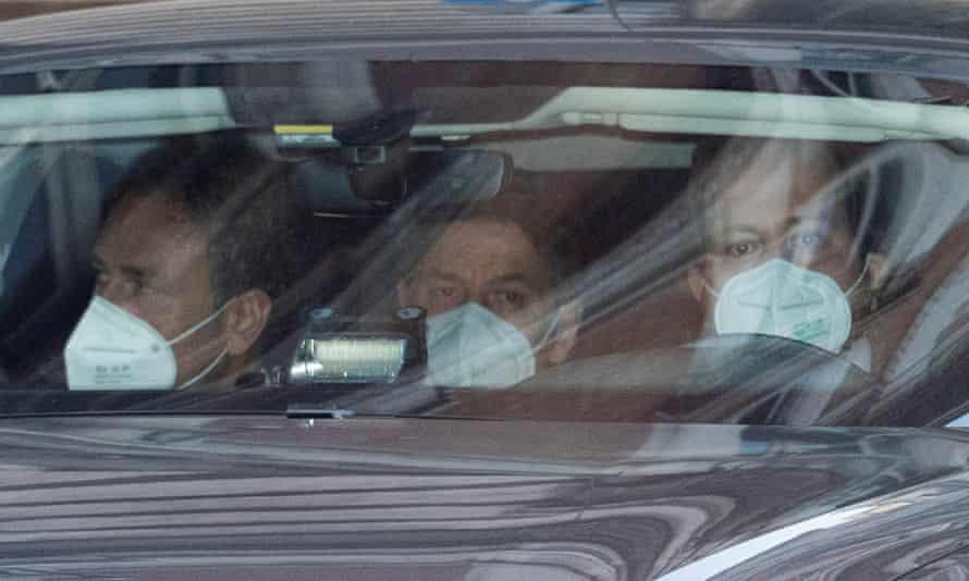 Giuseppe Conte in a car