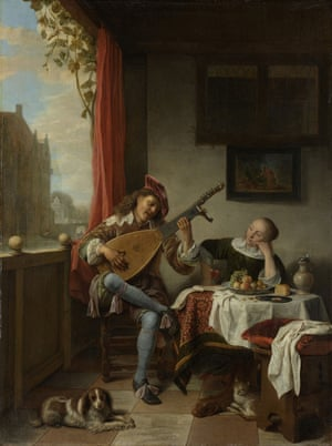 Hendrik Maertensz Sorgh's The Lute Player, 1661.