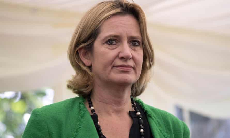 The home secretary Amber Rudd