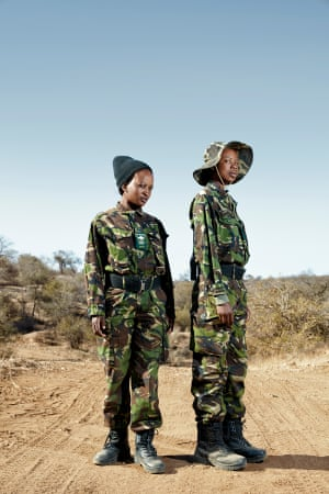 As part of her ongoing project Proud Women of Africa, Gunther photographs the Black Mambas Anti-Poaching Unit, an all-female scout unit targeting poachers in South Africa's Balule nature reserve