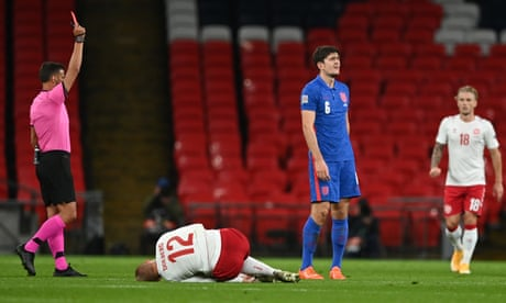 Southgate backs Maguire to shrug off criticism after red card costs England