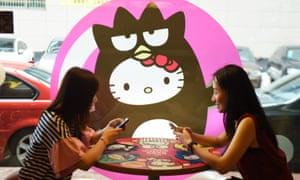 A Hello Kitty theme restaurant in Hangzhou, China.