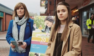 Siobhan Finneran, left, and Molly Wright in Apostasy.