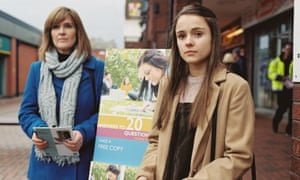 Siobhan Finneran and Molly Wright in Apostasy.