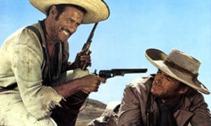 Eli Wallach, left, and Clint Eastwood in The Good, the Bad and the Ugly, 1966, one of several spaghetti westerns directed by Sergio Leone for which Ennio Morricone wrote the score.