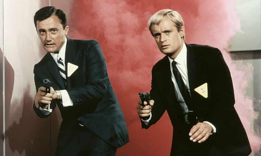Robert Vaughn, left, and David McCallum in The Man from UNCLE television series (1964-68).