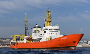 The rescue ship Aquarius