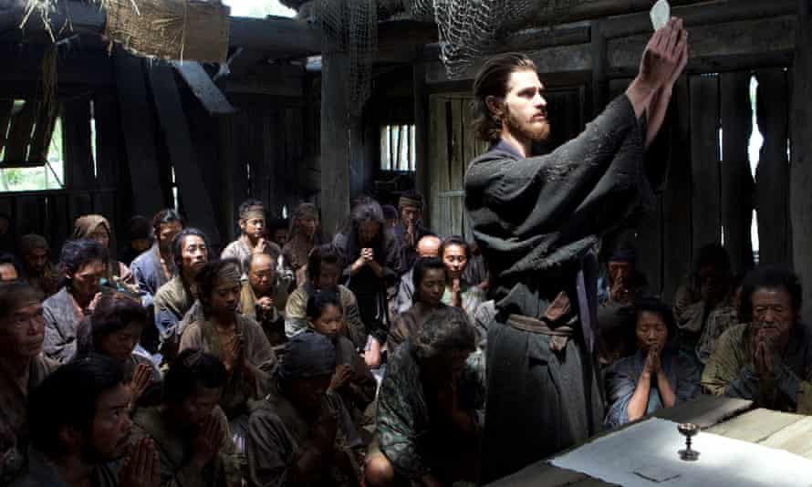 Andrew Garfield as a priest in Martin Scorsese's film Silence.