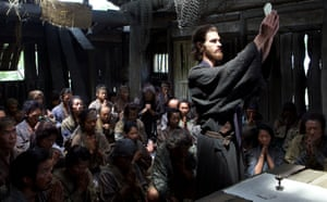 Andrew Garfield as Portuguese priest Rodrigues in Silence