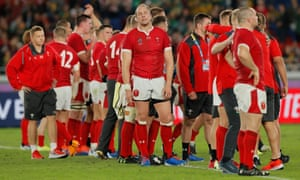 Alun Wyn Jones (centre) was close to tears in his post-match interview after Wales' defeat.