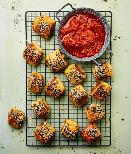 Yotam Ottolenghi's Middle-Eastern sausage rolls.