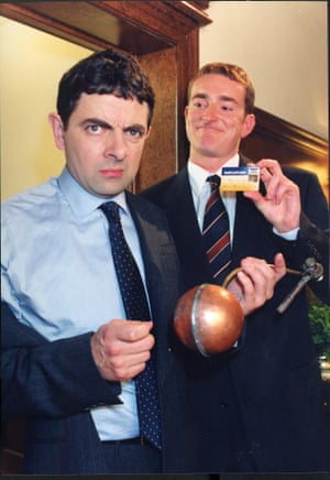 Rowan Atkinson appeared in Barclaycard ads in the 1980s and 90s.