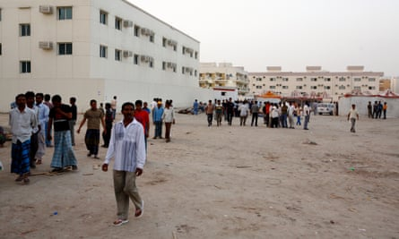 Migrant worker dormitory blocks in Dubai. An increasing number of Central Asian workers are travelling to UAE to find work.