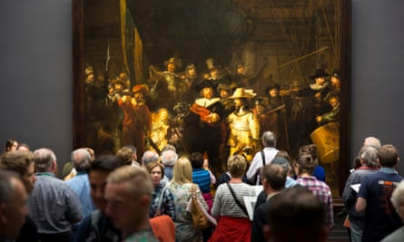 Rembrandt 'The Night Watch'at the Rijksmuseum, Amsterdam.